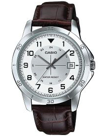 CASIO  MTP-V008L-7 – Quartz Date leather strap  – MTP-V008L-7 1
