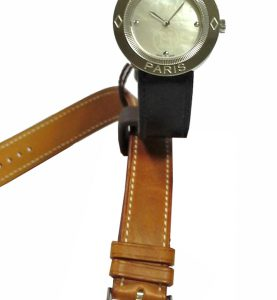 HERMES PASSE-PASSE LADY QUARTZ LEATHER STRAP 26mm - PP1-210-212-G-UBC