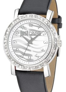 JUST CAVALLI MOON 3H- Strass- Black Strap Leather - R7251103501