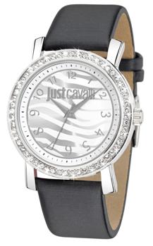 JUST CAVALLI MOON 3H- Strass- Black Strap Leather - R7251103501