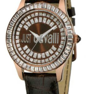 JUST CAVALLI ICE 3H- Strass- Black Strap Leather - R7251169055