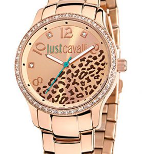 JUST CAVALLI HUGE 3H- Strass- Bracelet Rose Gold Tone - R7253127510