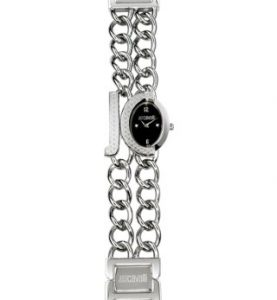 JUST CAVALLI CHAIN 2H- strass - Black Dial -Bracelet - R7253193525