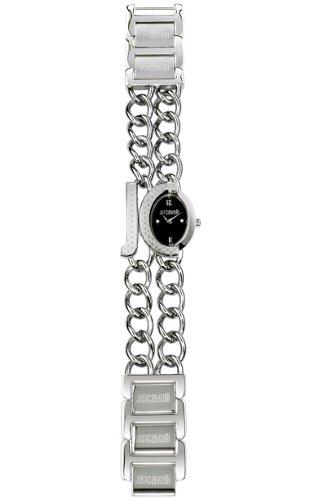 JUST CAVALLI CHAIN 2H- strass - Black Dial -Bracelet - R7253193525