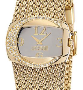 JUST CAVALLI RICH 2H- Strass- Bracelet Gold Tone - R7253277515