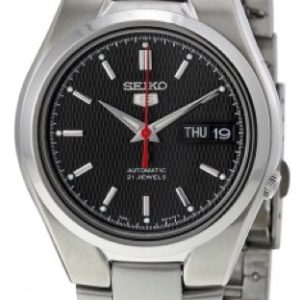SEIKO5 SNK607 Automatic Day&date. SS Case &Bracelet Black Dial 37mm - SNK607