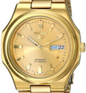 SEIKO5 SNXL72 Automatic Day&date. SS Case &Bracelet Gold-Tone 37mm - SNXL72