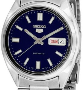SEIKO5 SNXS77 Automatic Day&date. SS Case &Bracelet Blue Dial 37mm - SNXS77