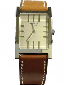 HERMES TANDEM QUARTZ GENT LEATHER STRAP 32mm - TA1-710-280-VBA
