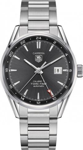 TAG HEUER CARRERA TWIN TIME CALIBRE7 41mm - TAG-WAR2012-BA0723