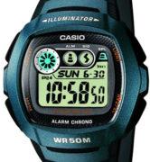 CASIO W-210-1B Illuminator, Alarm, Chrono, wr50 - W-210-1B