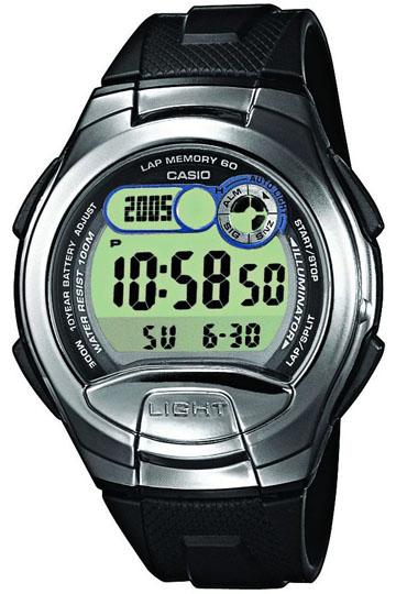 CASIO W-752-1A Illuminator,2 time zones, Multi alarm, Calendar, wr100 - W-752-1A