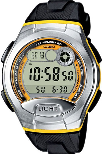 CASIO  W-752-9B Illuminator.2 time zones. Multi alarm. Calendar