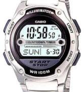 CASIO W-756D-1A Illuminator, Chrono, referee funct,  Alarm, Calendar, resin strap, wr100 - W-756D-1A