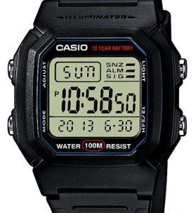 CASIO W-800H-1A WR 100 MT ILLUMINATOR - W-800H-1A