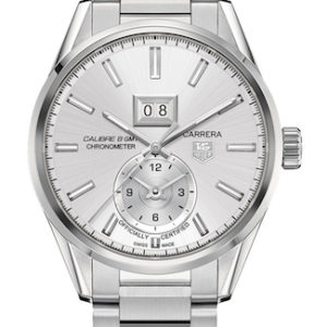 TAG HEUER CARRERA CAL 8-G DATE GMT 41MM SILVER DIAL AUTOMATICO - WAR5011-BA0723