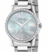 GUCCI WATCH G-TIMELESS SM WHITE  36 DIAMONDS - YA126525
