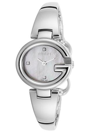 GUCCI WATCH GUCCISSIMA BANGLE 3 DIAMONDS - YA134504