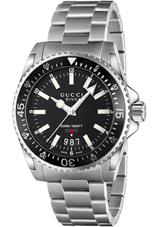 GUCCI WATCH DIVE XL BLACK - YA136301