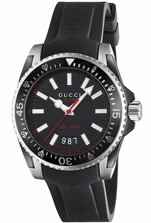 GUCCI WATCH DIVER LG BLACK&RED – YA136303 1