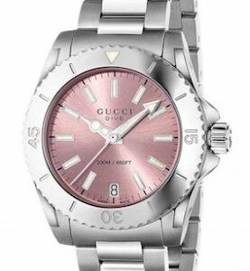 GUCCI WATCH DIVE MD PINK - YA136401